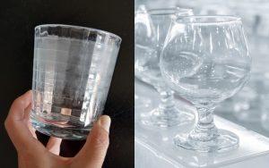 manchas blancas en los vasos